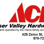 Fraser Valley Ace Hardware Logo with info